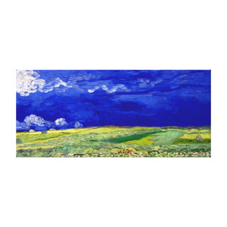Vincent van Gogh Wheatfield under Thunderclouds Canvas Print