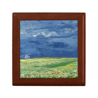 Vincent van Gogh - Wheatfield under Thunderclouds Trinket Box