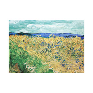 Vincent van Gogh Wheatfield with Cornflowers Canvas Print