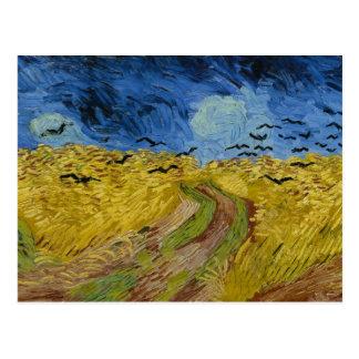Vincent van Gogh - Wheatfield with crows Postcard