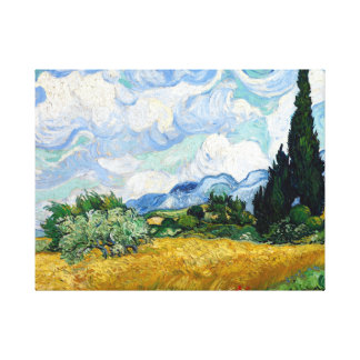Vincent van Gogh Wheatfield with Cypresses Canvas Print