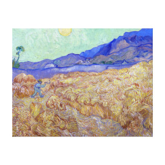 Vincent van Gogh Wheatfield with Reaper Canvas Print