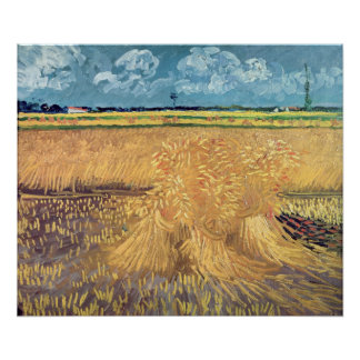 Vincent van Gogh | Wheatfield with Sheaves, 1888 Poster