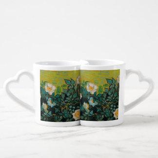 Vincent Van Gogh Wild Roses Vintage Floral Art Lovers Mug Set