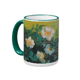 Vincent Van Gogh Wild Roses Vintage Floral Art Ringer Mug