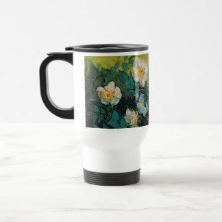 Vincent Van Gogh Wild Roses Vintage Floral Art Stainless Steel Travel Mug