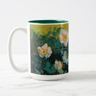 Vincent Van Gogh Wild Roses Vintage Floral Art Two-Tone Mug