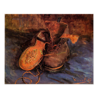 Vincent Van Gogh's 'A Pair of Shoes' Poster