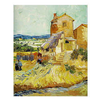 "Vincent van Gogh's Painting ""The Old Mill"" (1888) Poster"