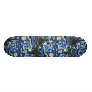 Vincent Van Gogh's Starry Night Custom Skateboard