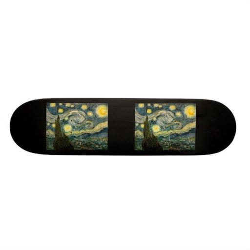 Vincent van Gogh's The Starry Night (1889) Skateboard