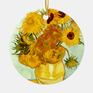 Vincent Van Gogh's Yellow Sunflower Painting 1888 Ceramic Ornament