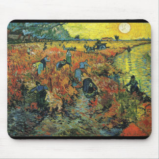 Vincent Willem van Gogh and The Red Vineyard Mouse Pad