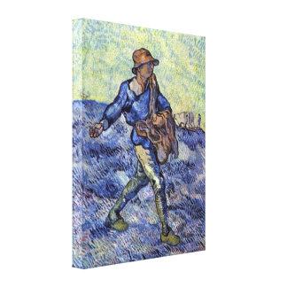 Vincent Willem van Gogh - The Sower Canvas Print