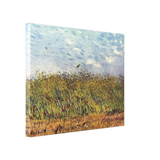 Vincent Willem van Gogh - Wheat Field with a Lark Canvas Print