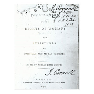 Vindication of the Rights of Woman' Postcard