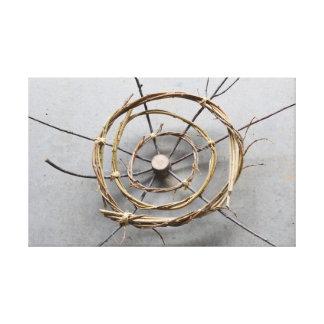 Vine Concentric Circles Nature Art Centered Canvas Print