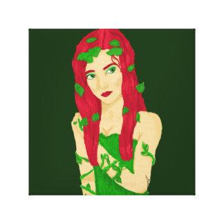 Vine Girl 12x12 Canvas Stretched Canvas Prints