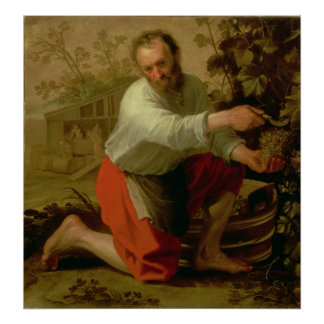 Vine Grower, 1628 Poster