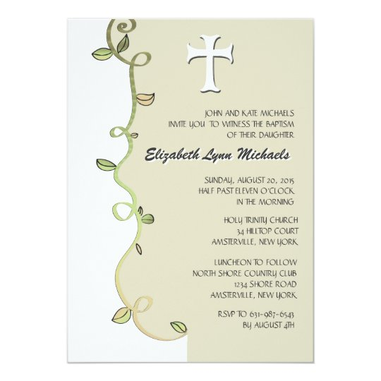 Vine of Faith Religious Invitation Zazzleca