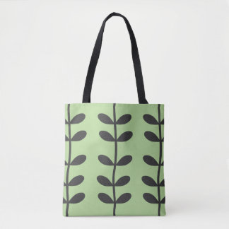 Vine Tote Bag in Pale Green