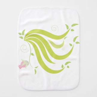 Vine with Flower Burp Cloth