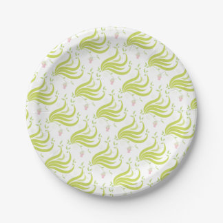 Vine with Flower Paper Plate