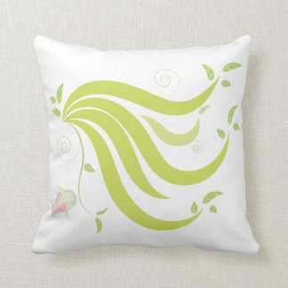 Vine with Flower Throw Pillow
