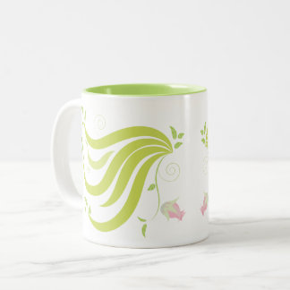 Vine with Flower Two-Tone Coffee Mug