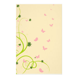 Vines and Butterflies Stationary Stationery