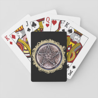 Vines and Storm Playing Cards - Black