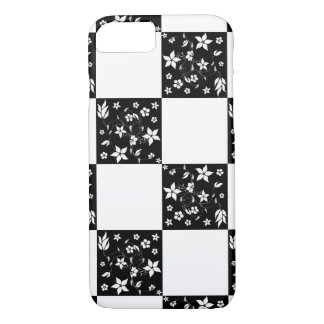 VINES CHECKERBOARD (a black & white design) ~ iPhone 7 Case