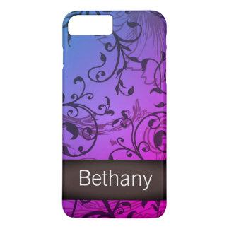 Vines Glamour Script Custom Name iPhone 8 Plus/7 Plus Case