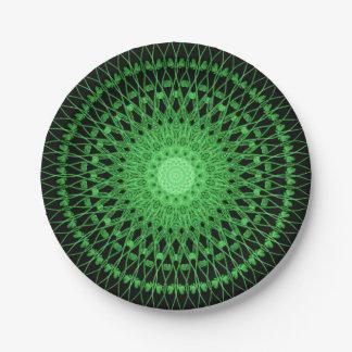 Vines Mandala 7 Inch Paper Plate