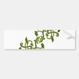 Vines Olive Green Nature Natural World Bumper Sticker