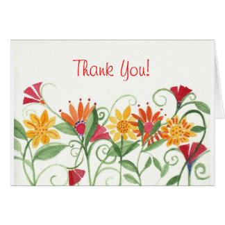 Vines Thank You Card