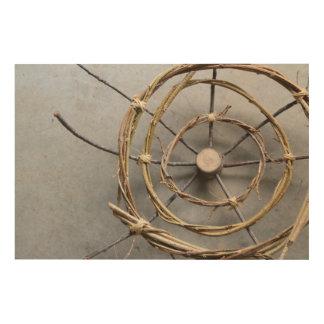 Vines & Wood Natural Eco Art Sculpture Closeup