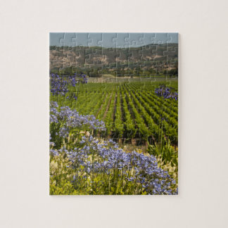 Vineyard and Flowers Jigsaw Puzzle