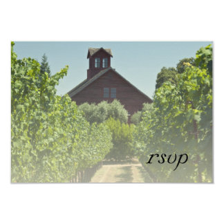 Vineyard and Red Barn Wedding RSVP Response Card