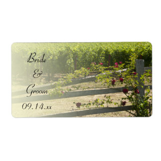 Vineyard and Rose Fence Wedding Favor Tags