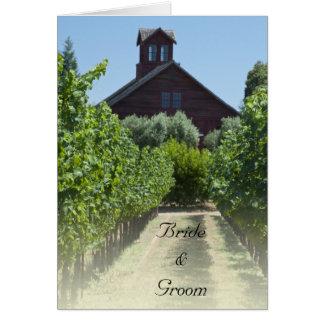 Vineyard and Rustic Red Barn Wedding Invitation
