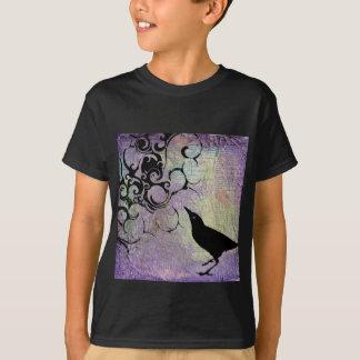 'Vineyard' Black Bird Youth T-shirt