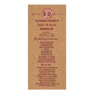 Vineyard Cork Stains Red Wine Wedding Menu