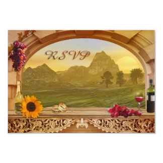 Vineyard Fall Wedding RSVP Invitation