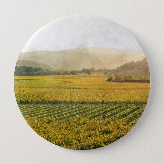 Vineyard in Autumn in Napa Valley California 4 Inch Round Button