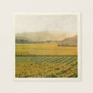 Vineyard in Autumn in Napa Valley California Disposable Napkins