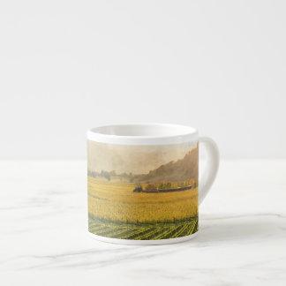 Vineyard in Autumn in Napa Valley California Espresso Cup