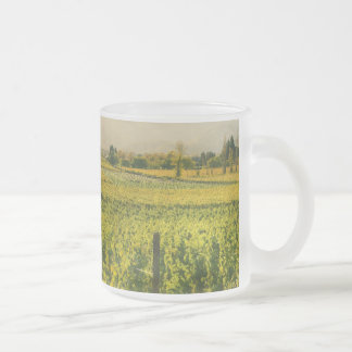 Vineyard in Autumn in Napa Valley California Frosted Glass Coffee Mug