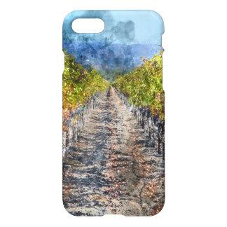 Vineyard in Autumn in Napa Valley California iPhone 7 Case