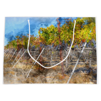 Vineyard in Autumn in Napa Valley California Large Gift Bag
